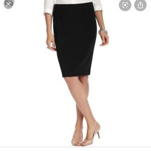 LOFT Classic Black Pencil Skirt